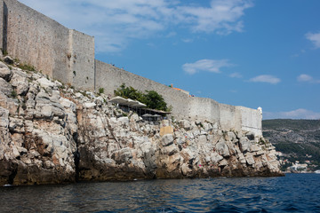 Dubrovnik city walls, the finest in the world and the city's main claim to fame. Entire old town was contained within a stone barrier 2km long and up to 25m high.