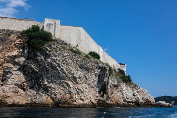 Dubrovnik city walls, the finest in the world and the city's main claim to fame. The entire old town was contained within a stone barrier 2km long and up to 25m high.