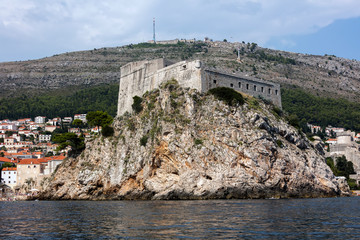 Medieval fortress of Lovrijenac a.k.a Fort Lawrence in Dubrovnik, Croatia, rebuilt after the 1667 earthquake. The fort is one of Dubrovnik's major tourist attractions.