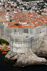 Fortress Bokar in Dubrovnik, Croatia, started in 1461, completed to its preset state in 1570, considered to be an example of harmonious and functional fortification architecture.