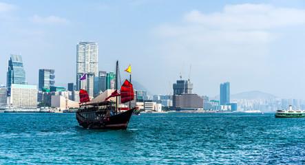 Junkboat in Hong Kong
