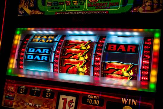 Casino slot machine display