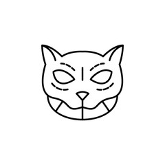 cat, mexico icon. Element of day the Dead in Mexico line icon. Thin line icon for website design and development, app development. Premium icon