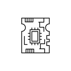 board, circuit icon. Element of robotics engineering for mobile concept and web apps icon. Thin line icon for website design and development, app development. Premium icon