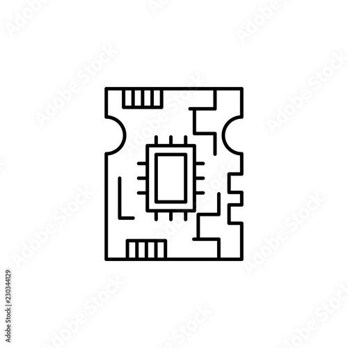 board, circuit icon  Element of robotics engineering for