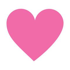 love heart on white background