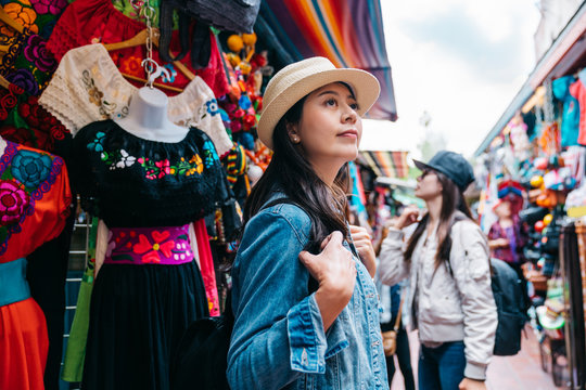 traveler shopping in the traditional market