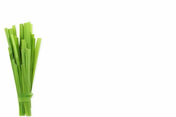 Papiers peints Condiment lemongrass Cymbopogon or citronella grass plant cut leaves in white background