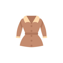 Trench coat color icon. Element of color clothes icon for mobile concept and web apps. Detailed Trench coat icon can be used for web and mobile