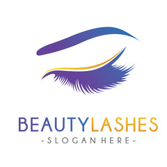Lash Logo, Luxury Beauty Eye Lashes Logo Design Inspiration Vector