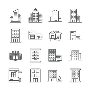 building line icon 30x30 pixel. Vector illustration.