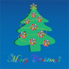christmas tree vector 1