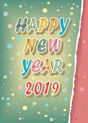 Happy New Year 2019. Confetti
