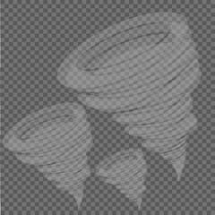 Whirlwind sign. Tornado. Hurricane. Hurricane - storm. Gray background. Vector illustration