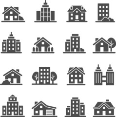 Architecture vector icon set