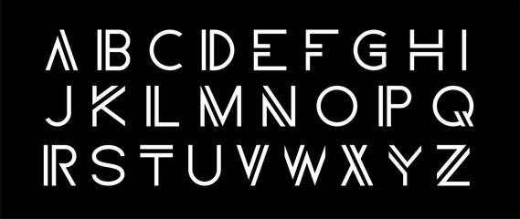 Vector modern set. Modern abstract font, alphabet.