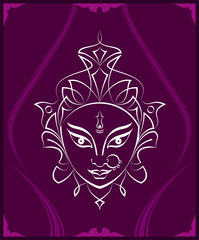 Durga Goddess Of Power, Divine Mother Of The Universe Design