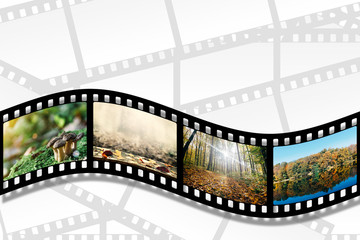 a filmstrip on the white backgrounds