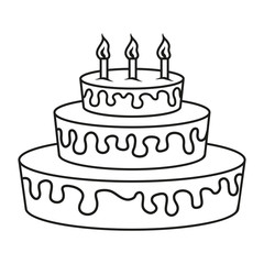 birthday cake, holiday sweetness, cake logo, cake for a party, vector artwork