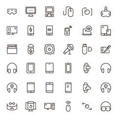 Device flat icon