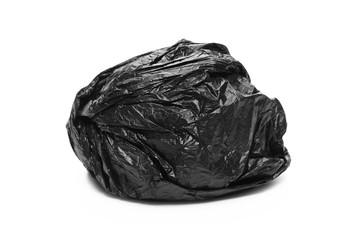Black nylon ball, isolated on white background