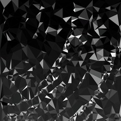 Abstract polygonal triangle dark background. Vector polygon which consist of triangles. Geometric background in Origami style with gradient.