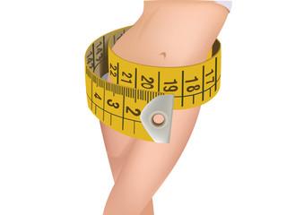 metro sartoriale corpo femminile