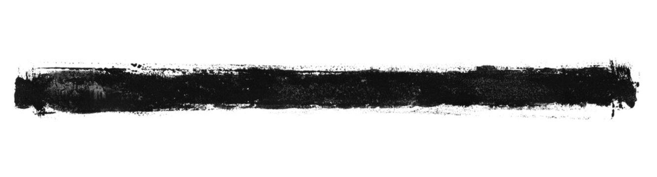 Schmutziger schwarzer Pinselstreifen