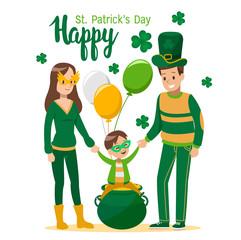 Happy St. Patrick's Day cartoon vector design. no4