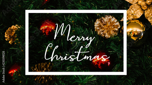 merry christmas word written inside white graphic frame with