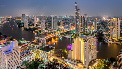 Landmark for travel background cityscape in middle of Bangkok,Thailand