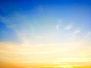 Sky beautiful sunset background in twilight time, colorful scene, amazing nature landscape image