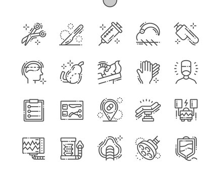 Surgery Well-crafted Pixel Perfect Vector Thin Line Icons 30 2x Grid for Web Graphics and Apps. Simple Minimal Pictogram