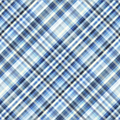 Seamless background. Geometric abstract diagonal plaid pattern in low poly pixel art style. Vector image.