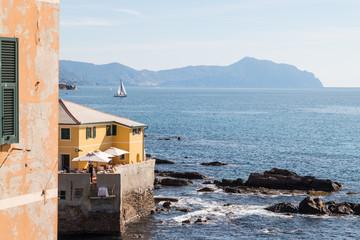 Scorcio di Genova Boccadasse, Liguria, Mar Ligure, Italia