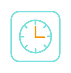 Alarm Clock Icon Isolated on Bright Background