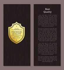 Great Choice Premium Quality Gold Label with Text