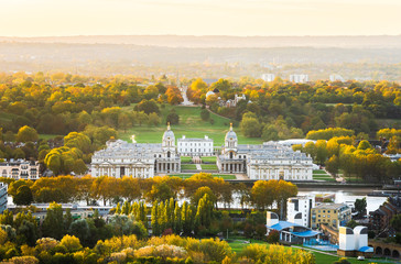 Printed kitchen splashbacks Historical buildings Ariel view of the Royal Park in London and is part of the Greenwich World Heritage Site with the Old Royal Naval College, the National Maritime Museum and Queen's House.