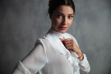 portrait of a happy elegant woman
