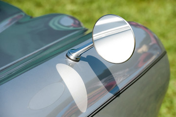 Wall Mural - close-up of vintage vehicle driving mirror