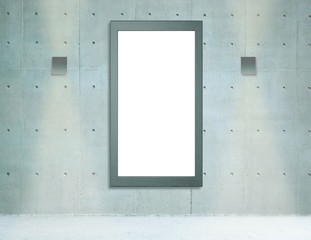 isolated frame wall mock up