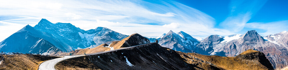Wall Mural - country road - european alps