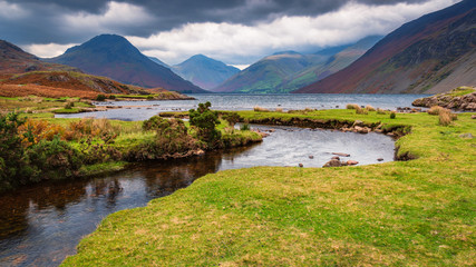 Wastwater with Scafell Pike beyond / Wastwater is situated in Wasdale in the English Lake District now a Unesco World Heritage Site