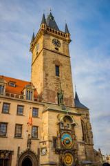 Horloge astronomique et Tour de l'hôtel de ville de Prague