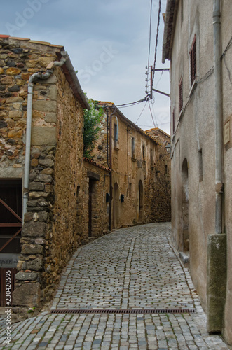 Spain, Pubol  Street near Gala Dali Castle