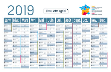 Calendrier 2019 - Grand format horizontal