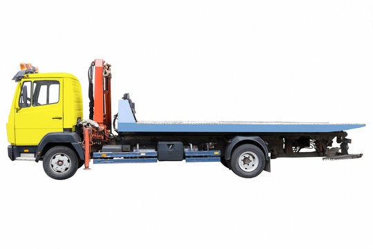 tow truck isolated on white background