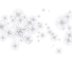 Christmas Paper Snowflakes Composition