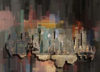 Manhattan. Abstract background