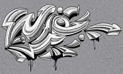 Black and white graffiti arrows